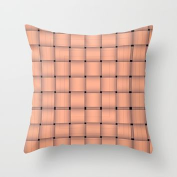 Tweed Throw Pillow by violajohnsonriley