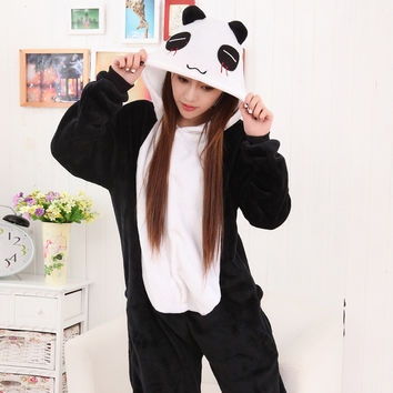 Sleepwear Lovely Winter Couple Cartoons Panda Animal Set Halloween Costume [9221221124]