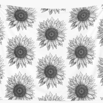 'Sunflower' Wall Tapestry by SEE5