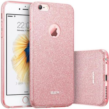 DCCKL72 Case for  6s 6 Plus, ESR Hybrid three layer Soft TPU 3in1 Light Weight Girl Fashion Shining Cover Case for 6 6s Plus