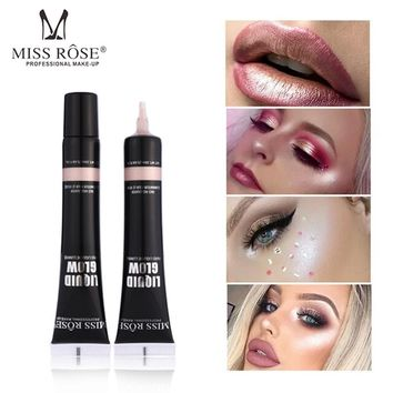 MISS ROSE illuminator Makeup Contour Corrector Glow Liquid Highlighter Brighten Bronzer Face Stereoscopic Profession Highlight