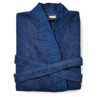 Pleated Robe, Marine Blue, Shower Wraps