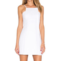 BCBGeneration Woven Cocktail Dress in Optic White