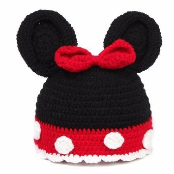 Free Shippint Cut Design Newborn Baby Infant Toddler knitting wool Hat Crochet Knit Costume Photo Photography Prop Accessories