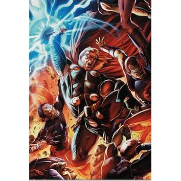 Secret Invasion: Thor #2 - Limited Edition Giclee on Stretched Canvas by Doug Braithwaite and Marvel Comics