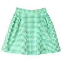 ROMWE | Jacquard Fabric Fine Check Skirt, The Latest Street Fashion