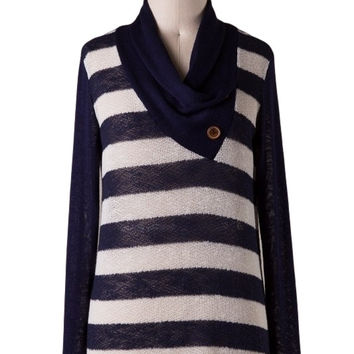 High Seas Nautical Stripes Sweater (Navy/Ivory)