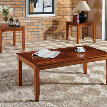 Golden Finish, Coffee End Table   Brantley Light Three Piece Table Set   American Freight