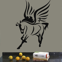 Wall Decals Vinyl Decal Sticker Murals Decor Pegasus Fairy Horse With Wings Kj61