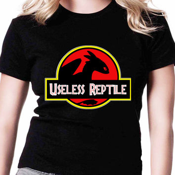 Toothless How To Train Your Dragon Useless Reptile Jurassic Park If Womens T Shirts Black And White