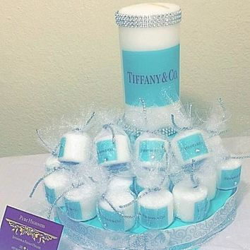 Tiffany Set with a centerpiece and 25 party favors