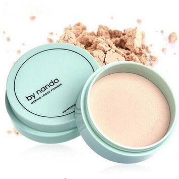 Translucent Pressed Powder with Puff Smooth Face Makeup Foundation Waterproof Loose Powder Skin Finish Setting Powder