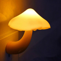 Mini Mushroom Wall Night Light Light-controlled Bedroom Lamp
