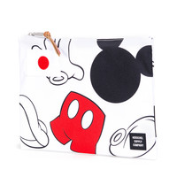 Herschel Supply Co.: Network Pouch Large - White / Mickey