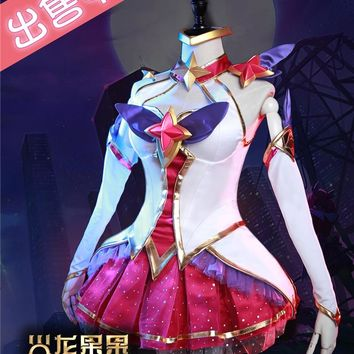 New!!LOL Star Guardian Magic girl the Nine-Tailed Fox Ahri cosplay costume New dress