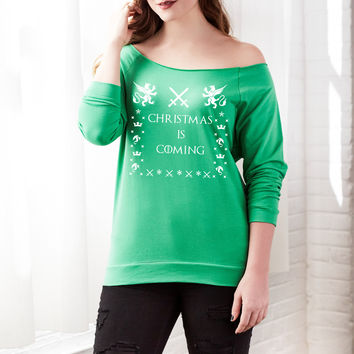 Best Off The Shoulder Christmas Sweater Products on Wanelo