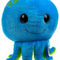 "Sea World Blue Octopus 9"" Bubble Zoo Plush Toy Soft Stuffed Animal Embroidered"