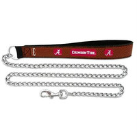Alabama Crimson Tide Football Leather 2.5mm Chain Leash - M