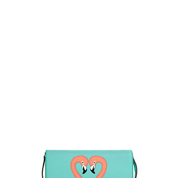 Kate Spade Strut Your Stuff Flamingo Applique Cali Fresh Air ONE