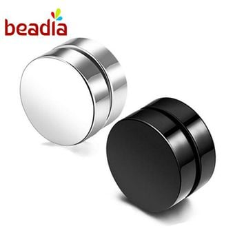 Clip Earring Cool Magnet Stainless Steel Without piercing Magnetic Ears For Men Punk Women Trendy Jewelry Earring