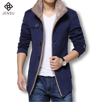 Men's Slim Fit Wool Coat Winter Jacket
