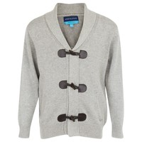 Gray Shawl Neck Cardigan