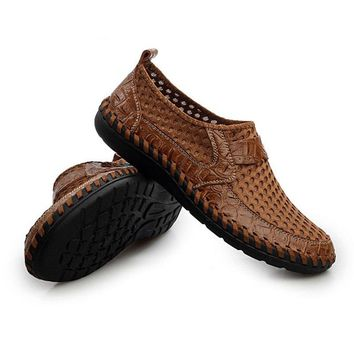High Quality Men Shoes Stylish Boat Shoes Man Loafer Genuin Leather Flat Shoes Slip-on Loafers Alligator Men Moccasins