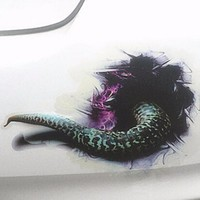 3D Snake Monster car stickers Simulation Car Styling Black hole Car Sticker Motorcycle Accessories for Car Body Multi style