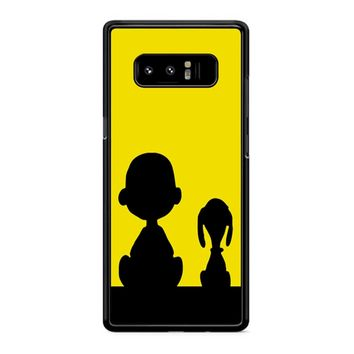 Snoopy And Charlie Brown Samsung Galaxy Note 8 Case