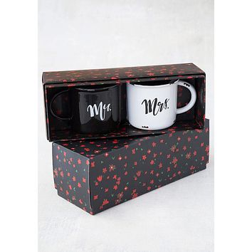 Mr. & Mrs. Set Of 2 Camp Mugs