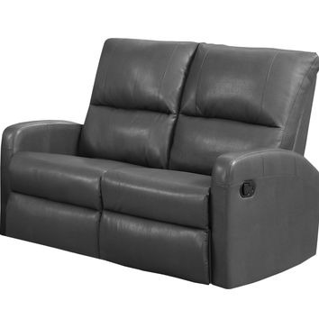 Reclining-Loveseat Charcoal Grey Bonded Leather