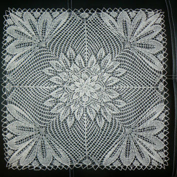 SALE - prize was 35 now 25, Knitted Lace Doily, Handmade Doily, Holiday Decoration, Home Decore