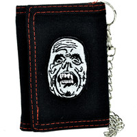 Phantom of the Opera Tri-fold Wallet with Chain Halloween Monster