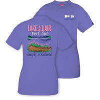 "*Closeout* Simply Southern ""Lake Hair"" Short Sleeve Tee"