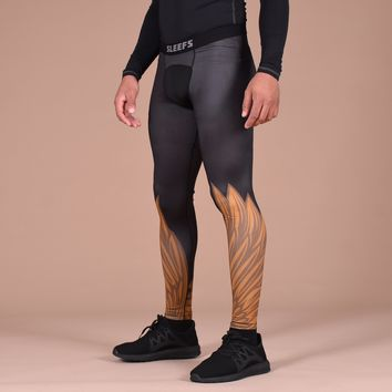 Icarus 3 Black Gold Tights for men