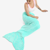 Mermaid Tail Throw Blanket