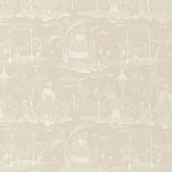 FSchumacher Fabric 66601 Bassano Embroidered Toile Linen