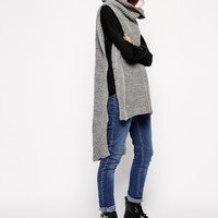 ASOS Cape With Roll Neck at asos.com