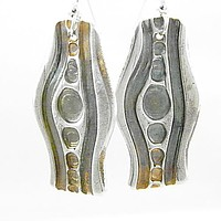 In the Flow - Pure Fine Silver Earrings