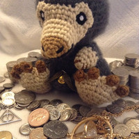 Harry Potter Inspired: Niffler from Fantastic Beasts and Where to Find Them (Crochet Plushie/Plush Toy) - With Pouch! - MADE TO ORDER