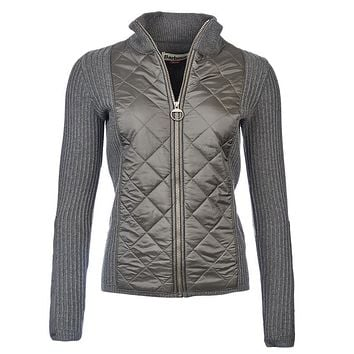 Sporting Zip Knit Jacket in Olive by Barbour