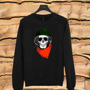 Skull army sweater Sweatshirt Crewneck Men or Women Unisex Size