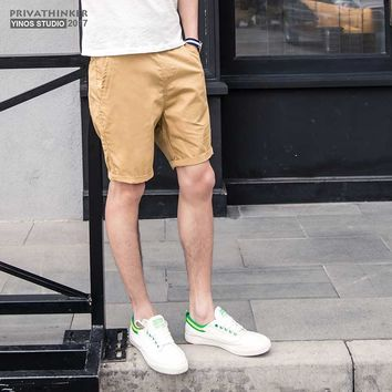 Summer Shorts Men Women Brand Male Casual Khaki Men Shorts Slim Fitness Plus Size Beach Cotton Short Pants Bermuda Female 2017