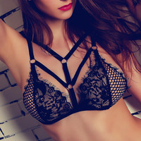Lace Sexy Fashion Strap Hollow Solid Underwear Bralette Brassiere Bra
