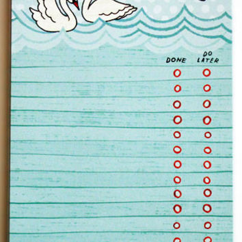 Swan To-Do List Notepad
