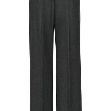Theory - Adamaris wool-blend flannel wide-leg pants