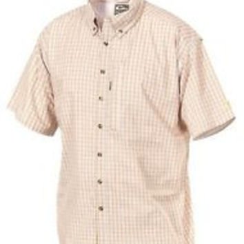 Drake Windowpane Plaid S/S Shirt