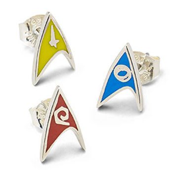 Star Trek Delta Enamel Stud Earrings (Division Colors)