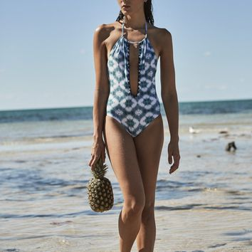 Capittana Aloha | Designer Open Back One Piece