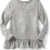 Plush-Knit Ruffle-Hem Top for Toddler Girls | Old Navy